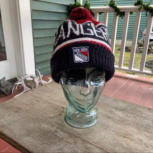 NY NHL RangersHockey Red,White&DarkNavy KnittedHat